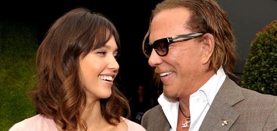 Jessica Alba och Mickey Rourke på Spirit Awards