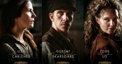 Utvandrarna - Lisa Carlehed, Gustaf Skarsgård och Tove Lo. © SF Studios